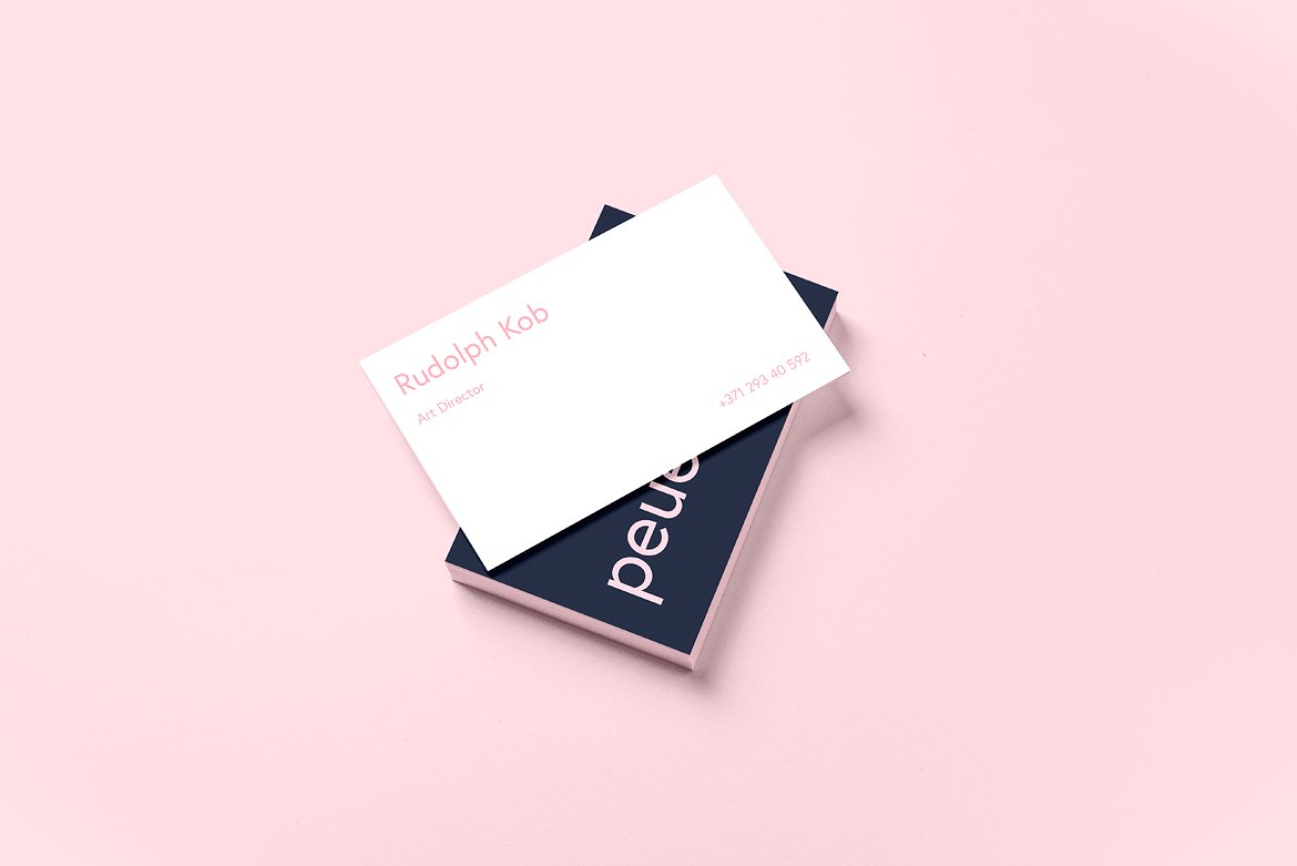 Peue Realsitic Business Card Mockup