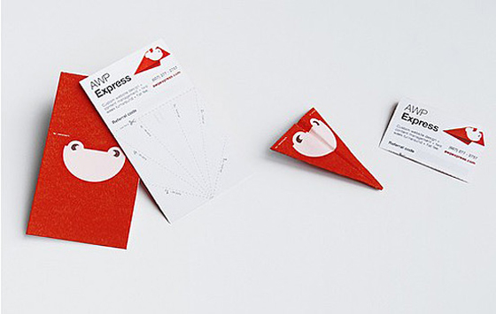 Awp express business card inspiration cardfaves folded business card reheart Gallery