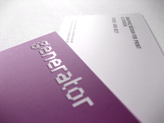 purple business card - Business Card Generator