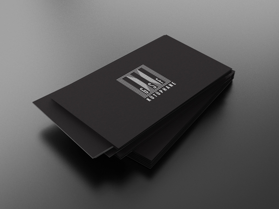 Minimal dark business cards inspiration cardfaves minimal business card colourmoves