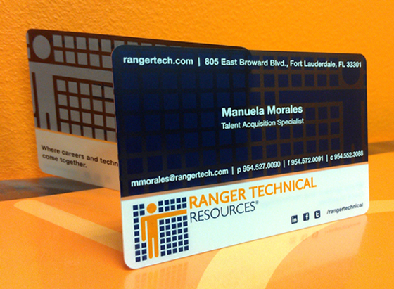 Ranger technical resources business card inspiration cardfaves plastic business card colourmoves