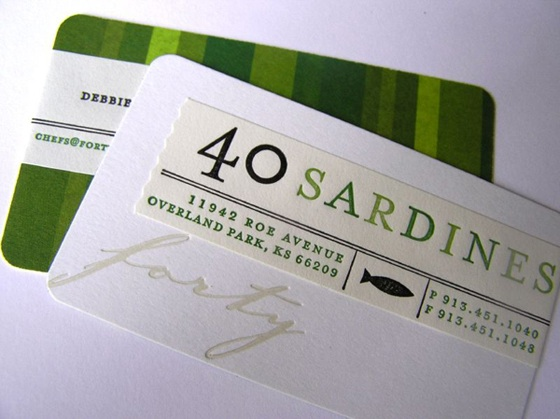 Sardines business cards