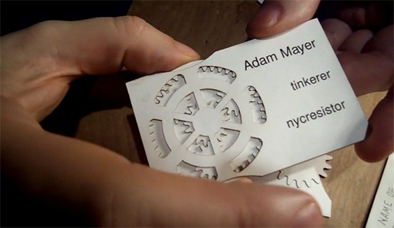 Interactive business card by Adam Mayer