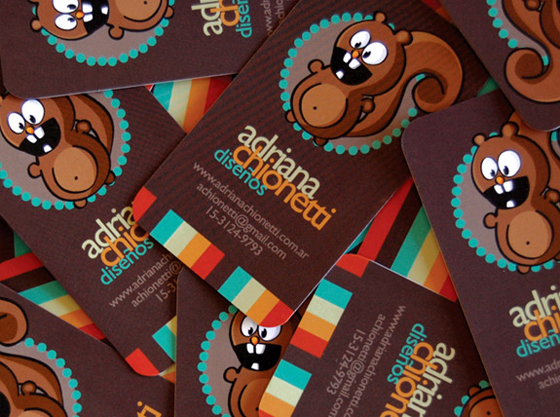 Business cards of Adriana Chionetti