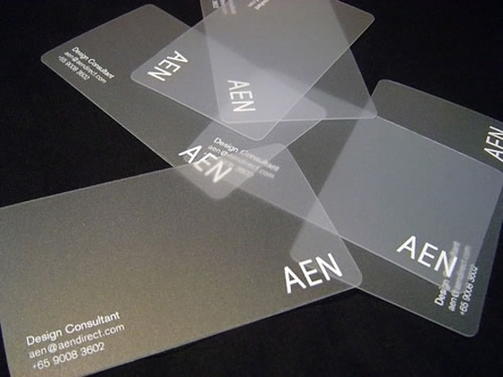 Business card for a design consultant