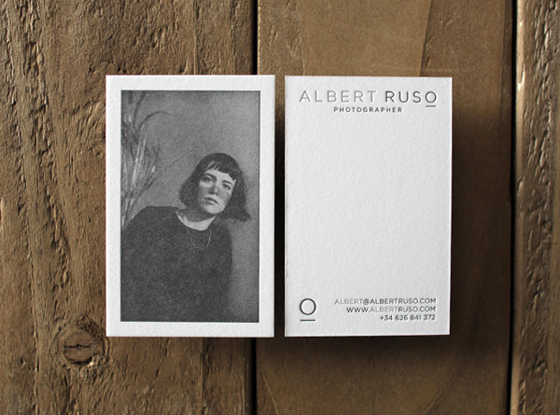 Business card of Alberto Ruso