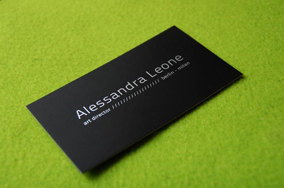 Alessandra Leone business card