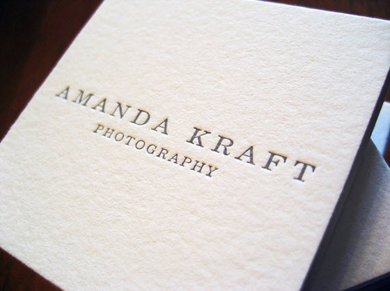 Business cards of Amanda Kraft