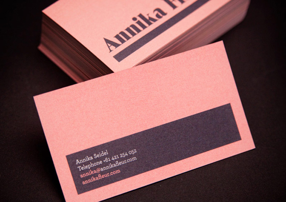 Business card of Annika Seidel