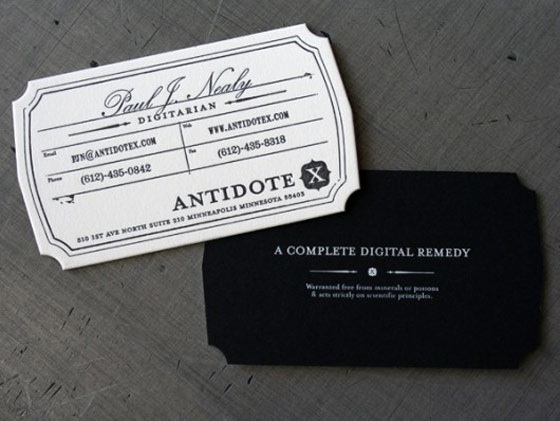 Antidote X business cards