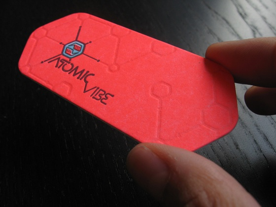 The business card of Atomicvibe