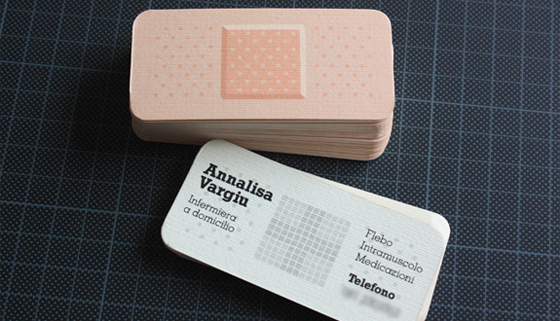Bandage business card