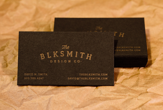The BLKSMITH business card