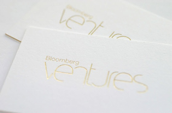 Business cards of Bloomberg Ventures