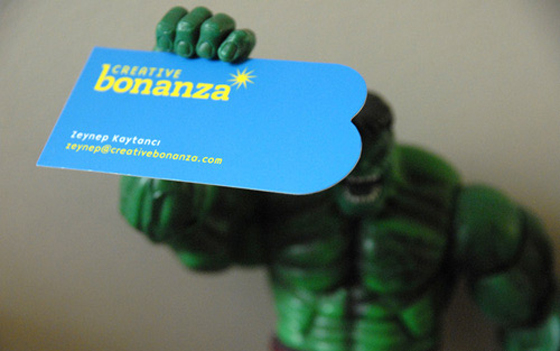 Bonanza business card