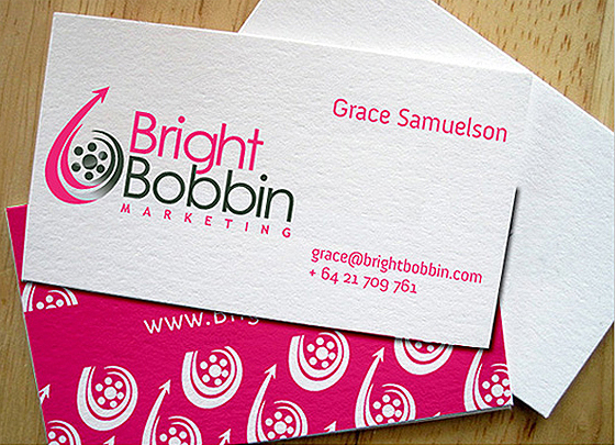 Bright Bobbin Marketing business cards