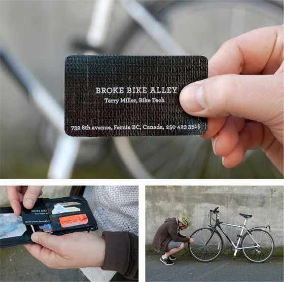 Cool tire patch business card