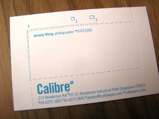 Calibre business cards