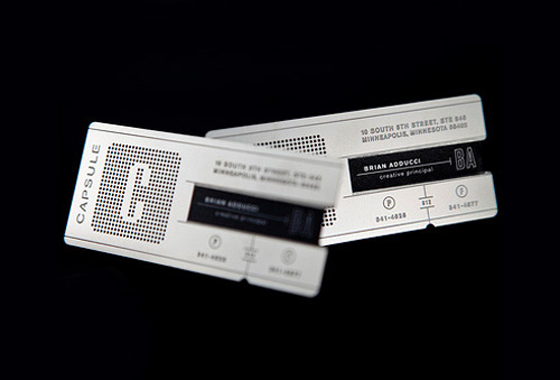 capsule business card