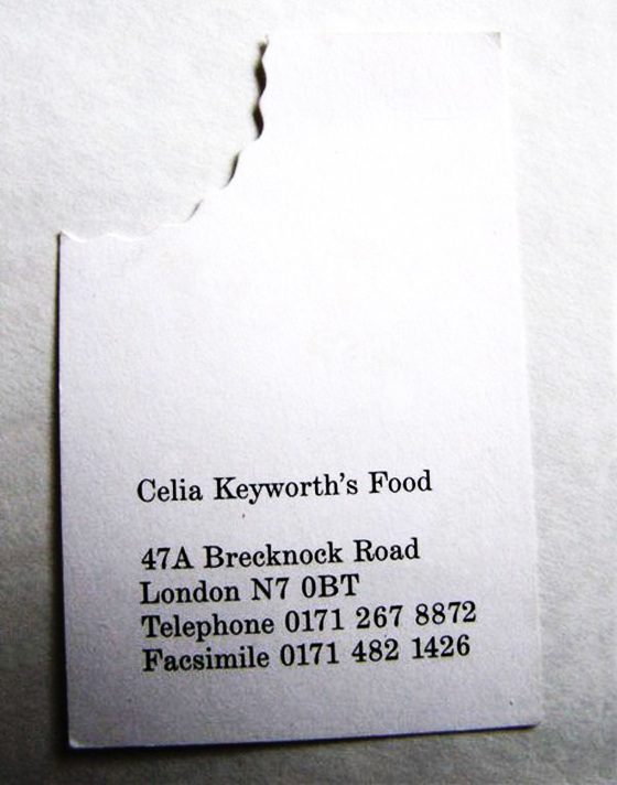 Business cards with a bite