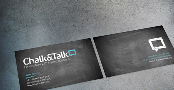 Chalk business cards