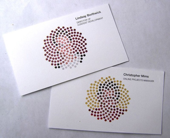 Colorblind business cards