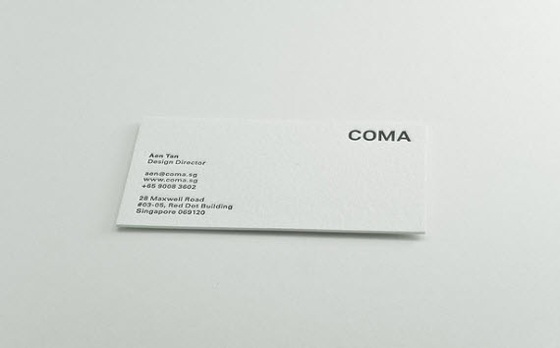 COMA business card
