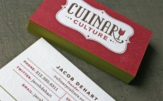 Culinary business cards