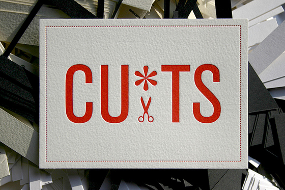 Cuts business card