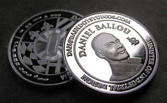 Coin business card