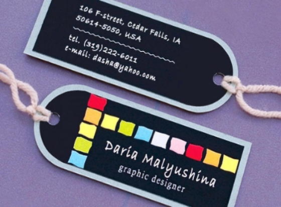 Daria Malyushina business cards