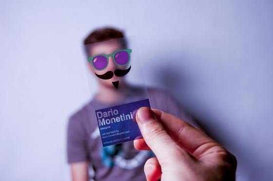 Funny transparent business cards