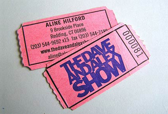 Ticket business cards