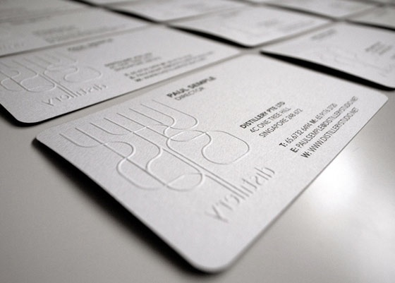 The distillery business card