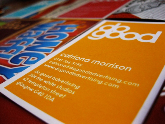 Do Good Advertising business cards