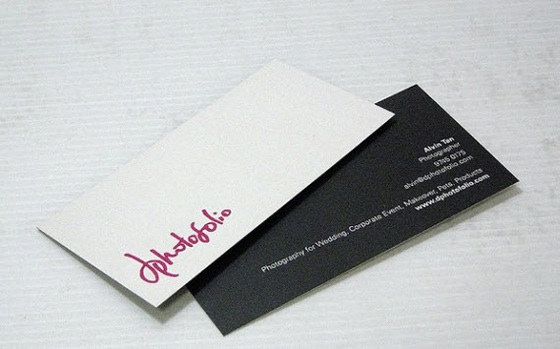 dphotofolio's business cards