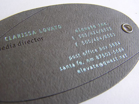 Elevate business cards