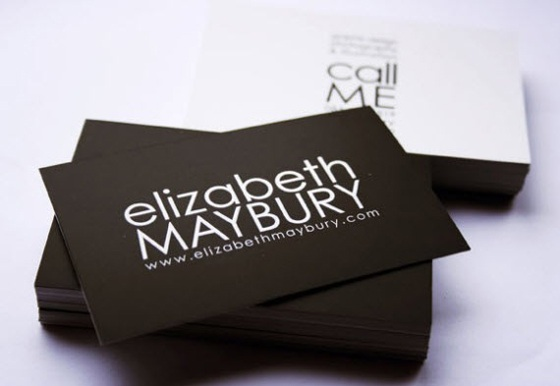 Business cards of Elizabeth Maybury