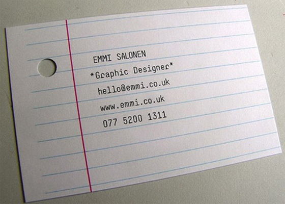 Simple business card design by Emmi Salonen