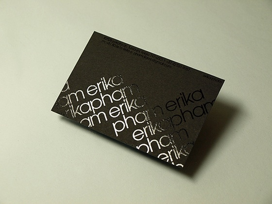 Business cards of Erika Pham