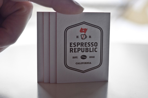 Espresso Republic business cards