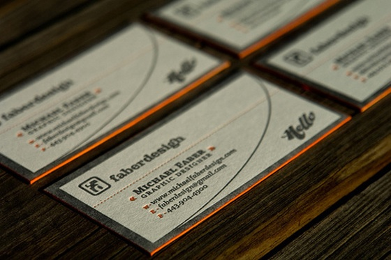 The business card of Faber Design