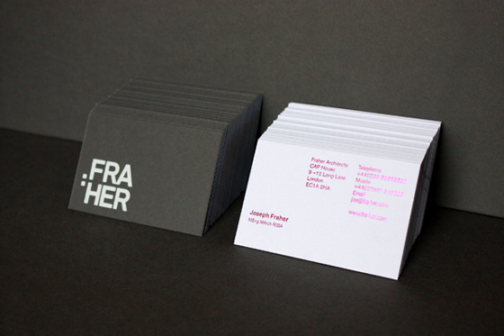 Fraher business cards
