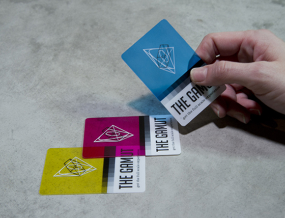 The Gamut business cards
