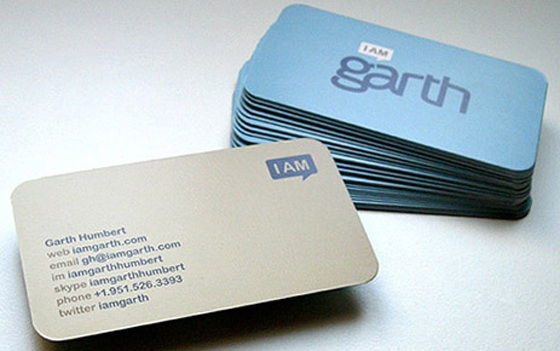 Business cards of Garth