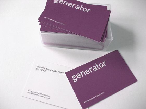 Generator business cards