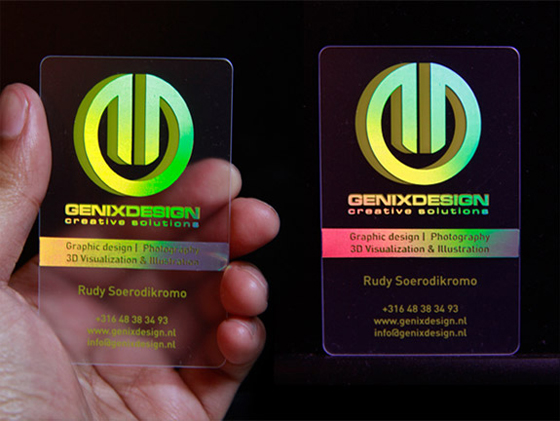 Genix Design business card