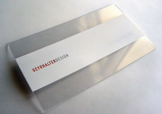 Clean minimal business cards for Geyrhalter design
