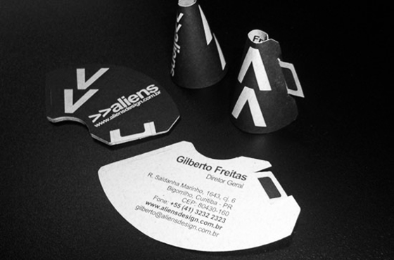 Alien business cards