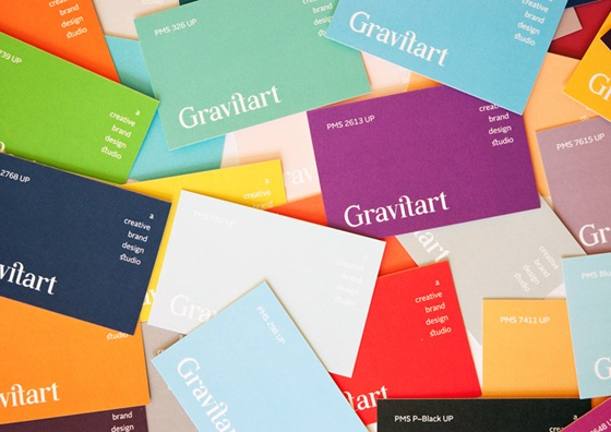 Business cards of Gravitart